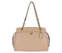Bowling Bag Refined Calf Leather Parker Handle Bag Beige beige
