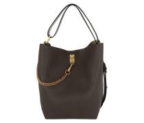 GV3 Tote Leather Grey Hobo Bag