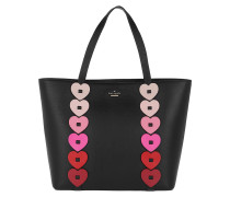Yours Truly Ombre Heart Tote Blackmulti rosa