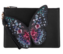 Butterfly Pochette Black/Blue Multi Pochette