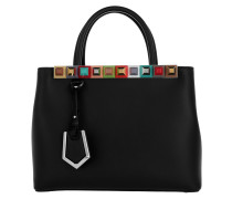 Medium 2 Jours Tote Leather Black Tote