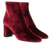 Baby Velvet Ankle Boots Black Rouge Schuhe