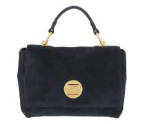 Liya Suede Handle Bag Bleu Tasche