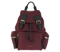 Medium Nylon Backpack Burgundy Red Rucksack