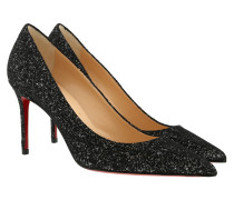 Louboutin Glitter Pumps Black Pumps