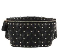 Umhängetasche Rockstud Spike Bum Bag Leather Black schwarz