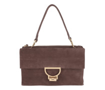 Arlettis Suede Crossbody Bag Large Marron Glace Satchel Bag