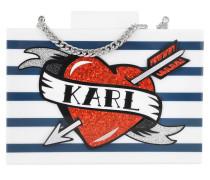 Captain Karl Minaudiere Stripes Clutch