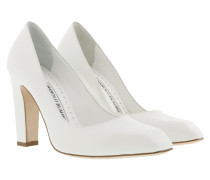 14d230e05db16a Pumps Gaga 105 Pumps Leather White weiß. Manolo Blahnik