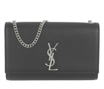 YSL Monogramme Chain Clutch Grain de Poudre Satchel Bag