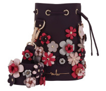 Kasper Flowers Bucket Bag Purple/Grey/Pink Beuteltasche pink