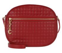 Umhängetasche Medium C Charm Bag Quilted Calfskin Red rot