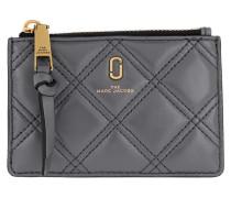 Portemonnaie The Quilted Softshot Top Zip Multi Wallet Dark Grey