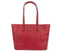 Anya Top Zip Shopper Medium Ruby Red