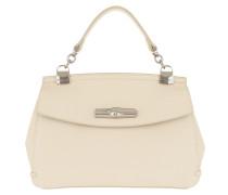 Satchel Bag Madeleine Messenger Bag Leather Ivory weiß