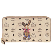 Rabbit Zippered Wallet Large