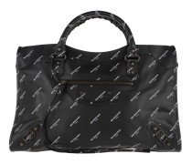 Calssic City Tote Leather Black Tote