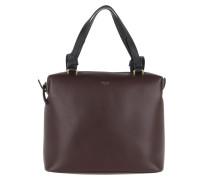 Small Soft Cube Bag Smooth Calfskin Burgundy Tasche