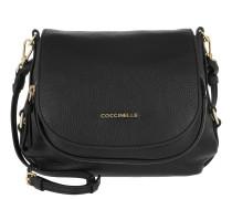 Janine Shoulder Bag Grained Leather Noir Tasche
