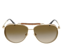 Sonnenbrille MCM119S Shiny Gold/Brown gold