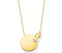 Halskette Necklace Together Coin With Gold-Coloured Ring
