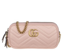 Umhängetasche GG Marmont Mini Chain Bag Leather Pink rosa