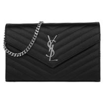 YSL Chain Wallet Monogramme Envelope Nero