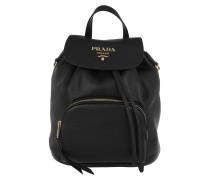 Rucksack Logo Backpack Leather Black