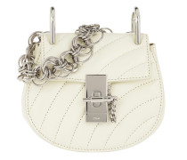 Drew Bijou Nano Quilted Leather Natural White Tasche