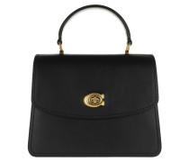Satchel Bag Refined Calf Leather Parker Top Handle Bag Black schwarz