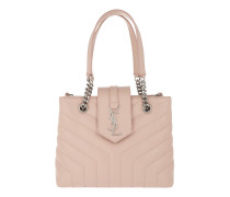 LouLou Shopping Bag Y Small Quilted Leather Marble Pink Tote