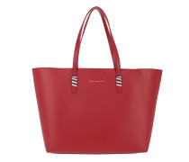 Shopper Stitch Leather Tote Tommy Red rot