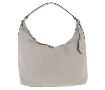 Suede Hobo Bag Light Grey Hobo Bag