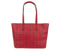 Anya Top Zip Shopper Medium Ruby Red Shopper