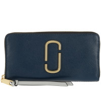 Portemonnaies Snapshot Standard Continental Wallet Leather Blue Sea blau