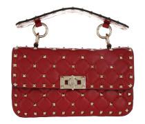 Rockstud Spike Crossbody Bag Red Tasche
