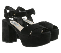 Sandals Open Toe Leather Black Sandalen