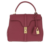 Tote 16 Bag Small Grained Leather Raspberry
