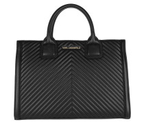Tote Klassik Quilted Top Handle Bag Black/Gold schwarz