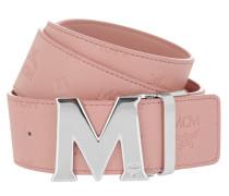 Embossed Logo Flat M Belt 130 cm Pink Gürtel