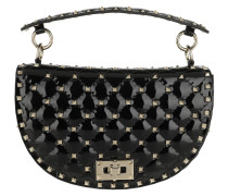 Umhängetasche Saddle Spike Crossbody Bag Patent Leather Black schwarz
