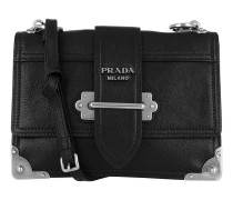 Glace Shoulder Bag Calf Leather Black/Silver Tasche