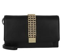 K/Chain Closure Clutch Black Umhängetasche