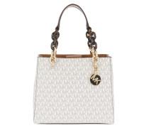 Cynthia SM NS Convertible Satchel Bag Vanilla
