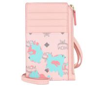 Portemonnaie Floral Leopard Visetos Card Holder Powder Pink