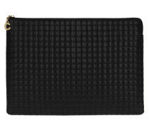 Clutch C Charm Large Pouch Quilted Leather Black schwarz