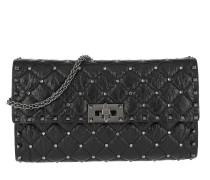 Rockstud Spike Clutch Small Leather Black Tasche