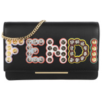 Tube Studs Wallet On Chain Black