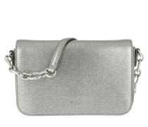 Saffiano Carmen Medium Antique Silver