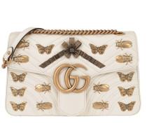 GG Marmont Animal Studs Shoulder Bag White Tasche